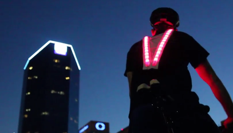 Led jacket for night walks