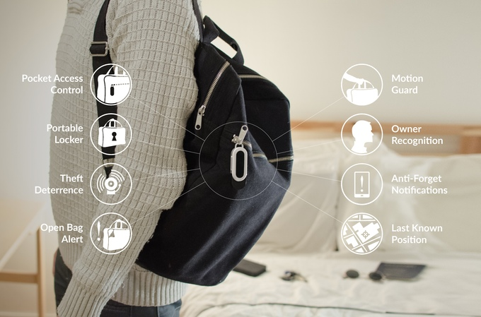 Sensor which prevents theft or loss of belongings
